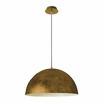 3 Light Small Dome Ceiling Pendant Gold, Beige