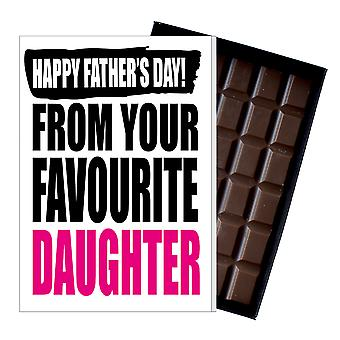 Funny Father's Day Gift From Daughter Chocolate Present Rude Card Dad 151