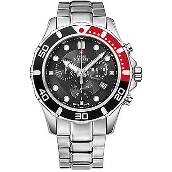 Swiss Military Swiss Quartz Analog Man Watch with SM34044.01 Stainless Steel Bracelet
