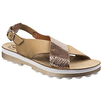 Fantasy Womens Izabella Buckle Up Sandal Cuoio Snake