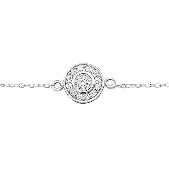 Round - 925 Sterling Silver Chain Bracelets - W26279x