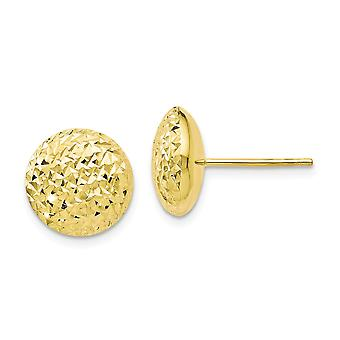 10k Brilho amarelo cortado post brincos joias presentes para mulheres