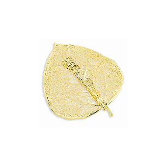 24k Gold Dipped Gift Boxed Aspen Leaf Pin Jewelry Gifts for Women