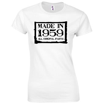 60th Birthday Gifts for Women Her Made in 1959 T Shirt