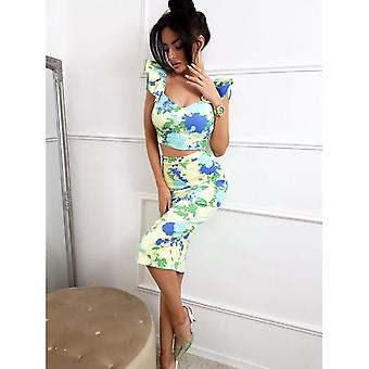 Top & Skirt Set Rosia Creme M