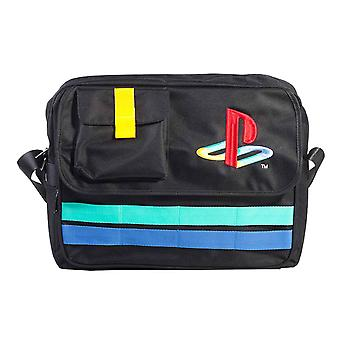 Playstation Messenger Bag Classic Retro Logo new Official Sony Black