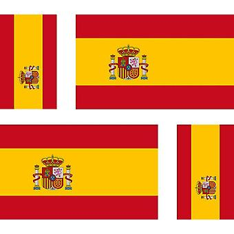 4 X Sticker Sticker Car Motorcycle Valise Pc Portable Flag Spain Spain