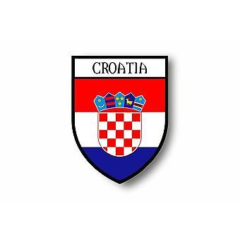 Sticker sticker motorfiets auto Blason stad Kroatische Kroatië vlag