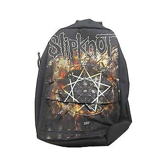 Slipknot Backpack Rucksack Bag Pentagram Iowa Band Logo new Official Black