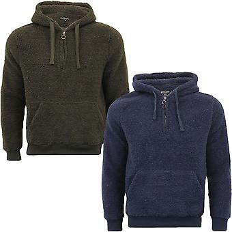 Brave Soul Mens Daimb Sherpa Fleece Long Sleeve  Pullover Sweatshirt