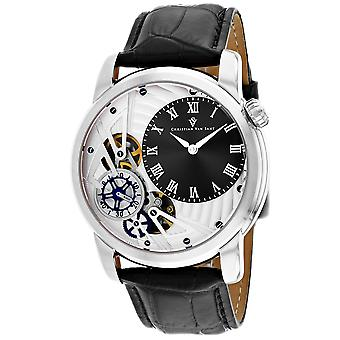 Christian Van Sant Men-apos;s Sprocket Auto-Quartz Black Dial Watch - CV1541