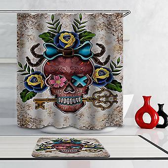 Key Holder Skull Shower Curtain