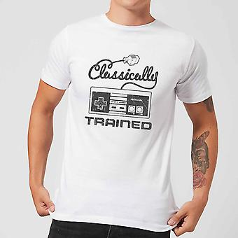 Retro Nes Classically Trained Mens White T-Shirt Large
