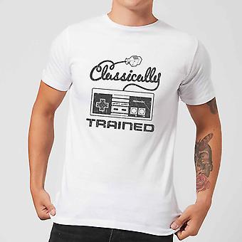 Retro NES klassisk trent menns hvit T-skjorte stor