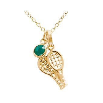 Gemshine tennisketcher 925 sølv, forgyldt eller rosen sport smykker-smaragd