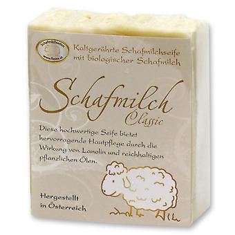 Florex Kaltgerührte Schafmilchseife - Classic - mit Lanolin für hervorragende Hautpflege mit reichhaltigen Ölen 150 g