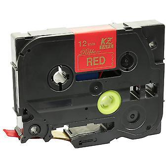 Prestige kaseta™ kompatybilny tzerw34 złota na taśmie red label (12mm x 4m) dla brat-touch seryjnych maszyn do drukowania etykiet