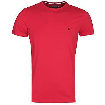 Tommy Hilfiger Stretch Slim Fit rotes T-Shirt