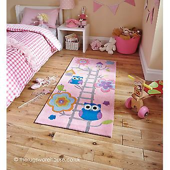 Eule Haus rosa Teppich