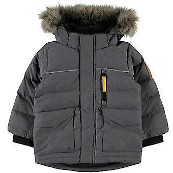 Namn-IT Boys Winter Coat NMMMANSON ner mörk gråmelerad