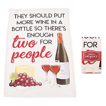 CGB Giftware Ze moeten meer wijn in een wijnthee handdoek