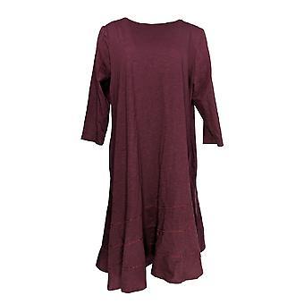 LOGO من قبل لوري غولدشتاين اللباس سلوب Knit طويل الأكمام الأرجواني A347485