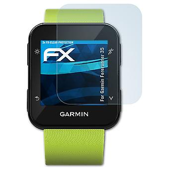 atFoliX 3x Protective Film compatible with Garmin Forerunner 35 Screen Protector clear&flexible
