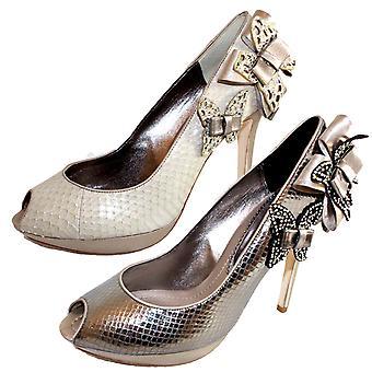 Bourne Women's Butterfly Design Caterina Peeptoe Shoes