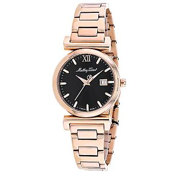 Mathey Tissot Women's Black Dial Watch - D410PN