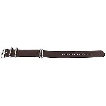 N.a.t.o zulu g10 style watch strap dark brown 5 ring with stainless buckle 20mm and 22mm