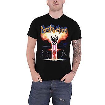 Destruction T Shirt Infernal Overkill Band Logo nouveau noir officiel pour hommes