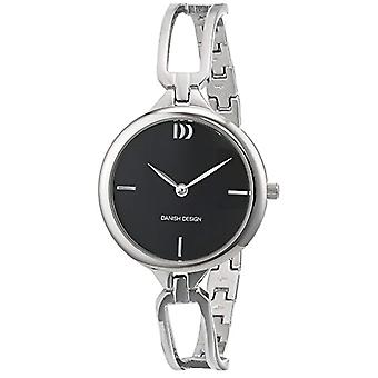 Quartz Watch Stainless Steel Bracelet Silver analog display and Danish Design black dial 3324586