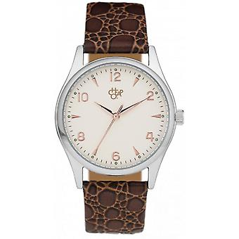 Shows Cheapo 14226DD - mixed Brown Leather watch