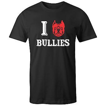 Boys Crew Neck Tee Short Sleeve Men's T Shirt- I Bullies