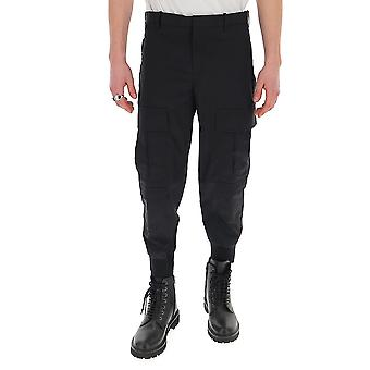 Neil Barrett Bpa743hn01101 Men's Black Cotton Pants