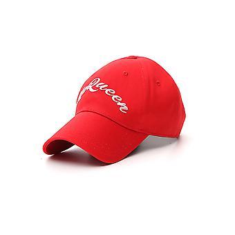 Alexander Mcqueen 5765344105q6472 Hombres's Sombrero de Tela Roja