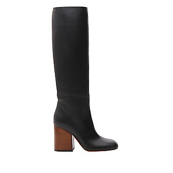 Marni Stms001009lv81700n99 Women's Black Leather Boots