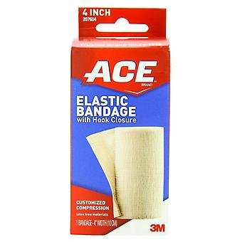 3m ace brand elastic bandage with hook closure, 4 inch, 1 ea