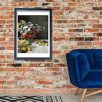 Claude Monet - Still Life with Flowers and Fruit Poster Print Giclee
