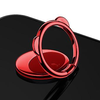 Baseus 360° rotate zinc alloy ultra-thin bear ring bracket finger phone ring holder for smartphone