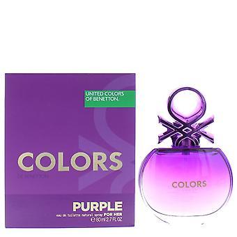 Benetton kleuren Paarse Eau de Toilette Spray 80ml