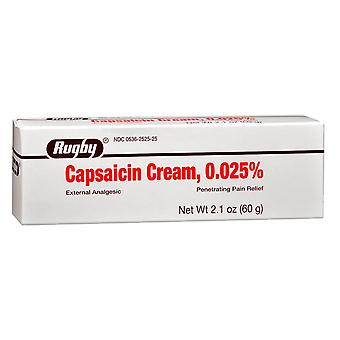 Rugby capsaicin cream, penetrating pain relief, 2.1 oz