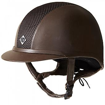 Charles Owen Ayr8 Plus Leather Look Riding Hat - All Brown