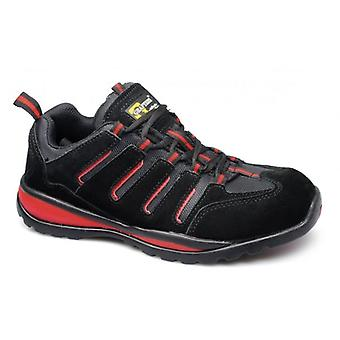 Grafters Lynn M557as Unisex Safety Trainers Black/red