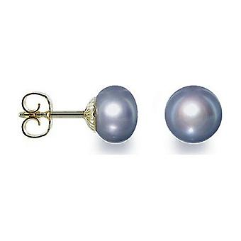 Luna-Perler Pearl Studs Klassisk Ferskvand 6-6.5mm 585 Gul Guld 1022000