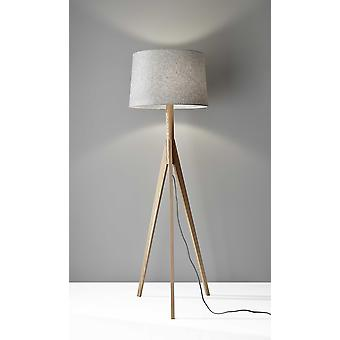"18"" X 18"" X 59.25"" Natural Wood Floor Lamp"