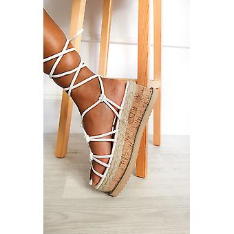 IKRUSH Womens Layla Strappy Flatform Sandals