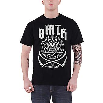 Bring me the Horizon T Shirt Crooked Young Band Logo Official Mens New Black