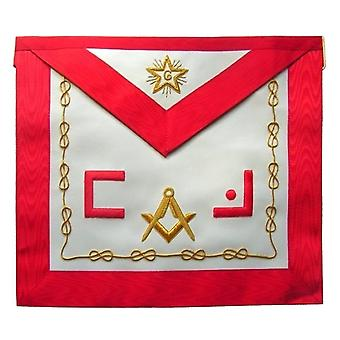 Masonic scottish rite apron - aasr - master mason - masonic letters square compass