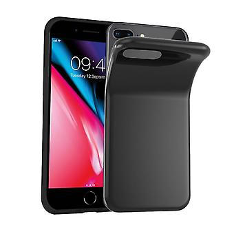 Cadorabo Case for Apple iPhone 8 PLUS / iPhone 7 PLUS / iPhone 7S PLUS in BLACK - Flexible TPU Silicone Phone Case - Silicone Case Protective Case Ultra Slim Soft Back Cover Case Bumper